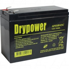 12SB10C Drypower SLA Lawnmower Battery