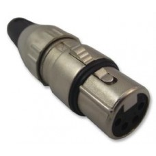 700-0400 Deltron 4 Pin Socket (XLR)