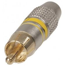 CAP1088GPYE Gold RCA Plug
