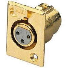 MCJ5063G XLR 3P Chassis Socket Gold Plated SPECIAL
